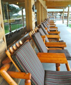 Redrish Lake Lodge Porch