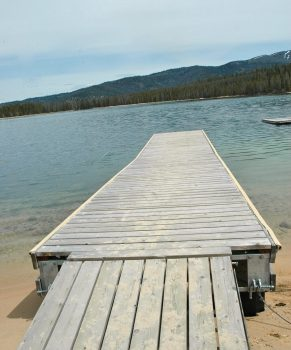 Redfish Lake Boat Ramp Area